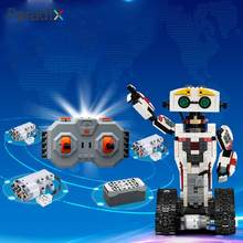 2018 Blocks RC Robot DIY Blocks RC Scorpion Multicolor 2.4GHz Premium Toys Building Blocks Robot Boy Drop Shipping(China)