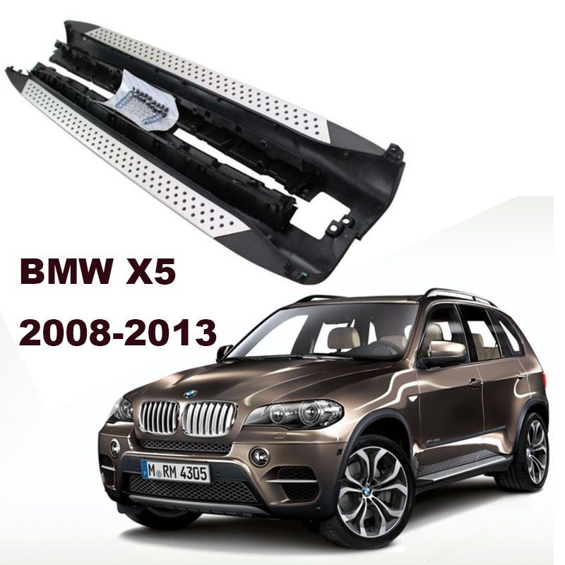 For BMW X5 E70 2008-2013 Car Running Boards Auto Side Step Bar Pedals High Quality Brand New Original Design Nerf Bars