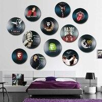 2017 nouveau VintageRetro Disques Vinyles En Bois Impression décoration signe personnalité chambre mur bar décoration murale