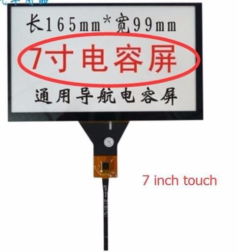 Car dvd di navigazione 7 pollice touch screen capacitivo/gt911 6 spille/165*99/165*100 millimetri 6 line touch screen cavo a nastro