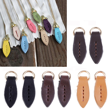 5pcs Leather Zipper Pull Puller Replacement Zip Slider Heads Buckle Travel Bag Suitcase Clothes Tent Backpack Accessories KZ0228