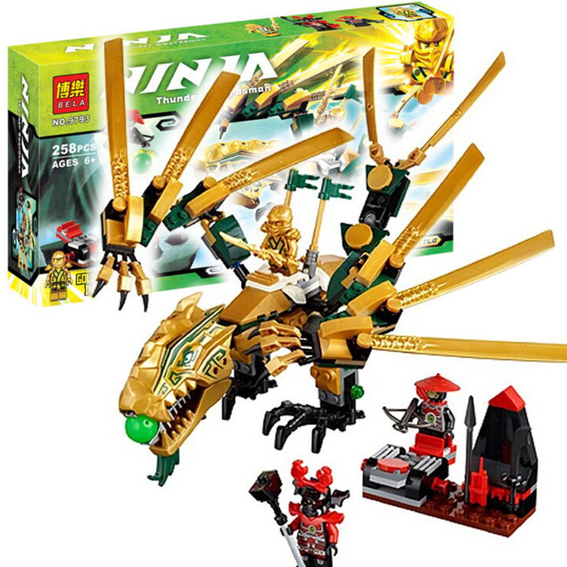 Bela Ninjagoes The Golden Dragon Building Block Set golden ninja Lloyd scout warrior Minifigures Compatible with