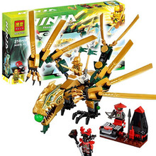 Bela Ninjagoes The Golden Dragon Building Block Set golden ninja Lloyd scout warrior Minifigures Compatible with legoe 70503