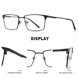 Image 2 - تصميم نظارات رجالية من ميريس إطار نظارات مصنوع من سبائك التيتانيوم فائق الخفة لوصف قصر النظر إطار بصري للرجال S2045