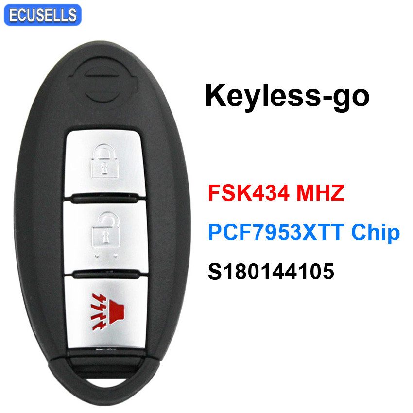 FCC ID:KR55WK48903 Three T 1pc 4 Butons Keyless Entry Remote Control Key Fob Replacement Car Key