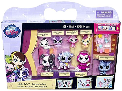 New in box LPS Pets Glitter Pets 8 Pack #4080-4087 Collection figures Toys Gift tomy pokemon monster collection 20cm radio control zekrom new in box