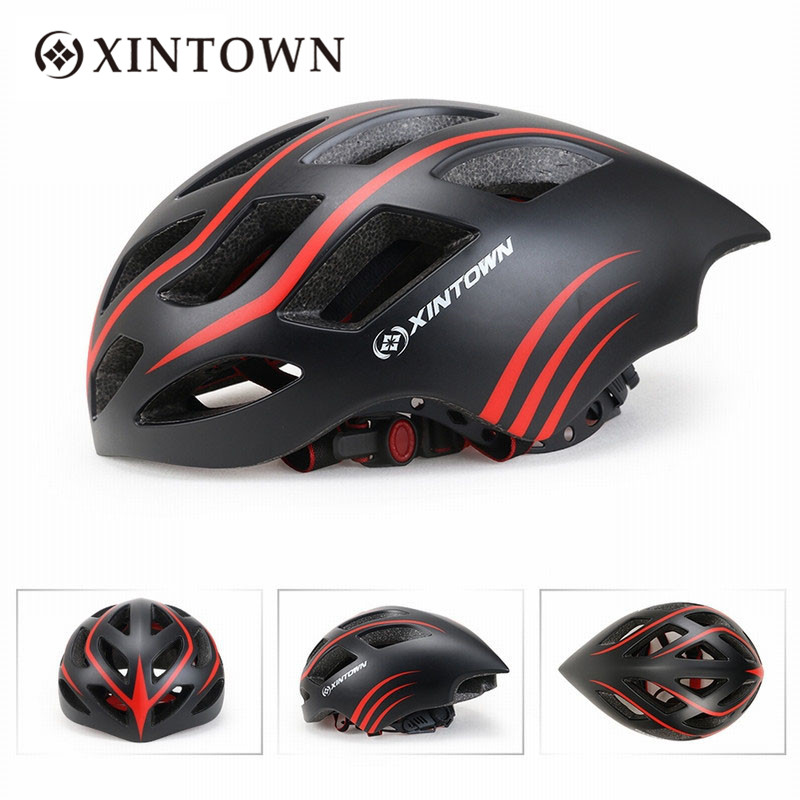 Xintown 3 Color Bike Bicycle Helmets EPS Ultralight Unisex Breathable 18 Air Vents Professional Safety Anti-hit Cycling Helmets new bicycle helmets with cycling glasses ultralight breathable men women professional bike helmets mirror 3 lens h5063