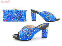 doershow shoes high heel Italian Shoes with matching Bags for party African shoes and bag to match ladies wedges shoes JK1 24