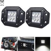 2pcs 18W Car Headlight LED WORK LIGHT FOR OFF ROAD 4X4 4WD ATV UTV SUV Driving