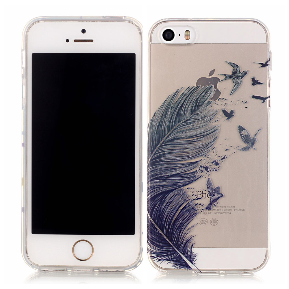 Телефонные чехлы Чехол для Apple IPhone 5 5S 5 г SE супер тонкий мягкий ТПУ Ясно задняя кожи для iphone 5S телефон аксессуары оптом
