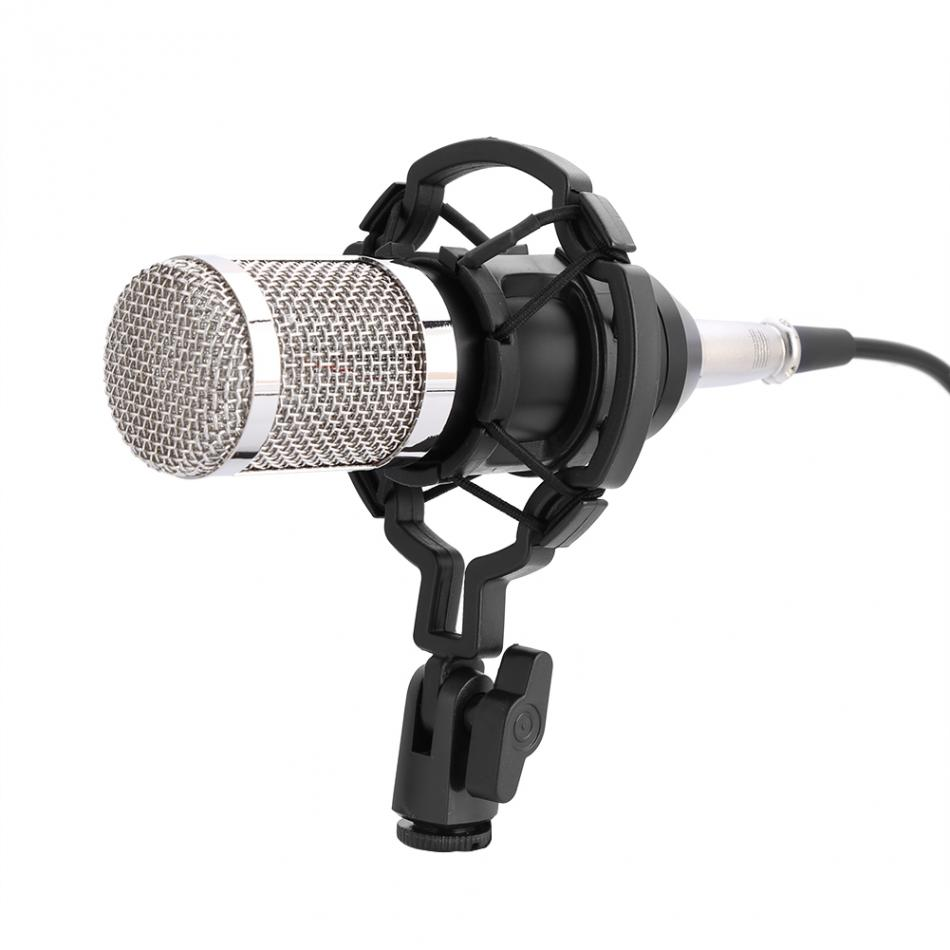 audio condenser microphone set for bm 800 microphone studio sound recording mic with shock mount. Black Bedroom Furniture Sets. Home Design Ideas