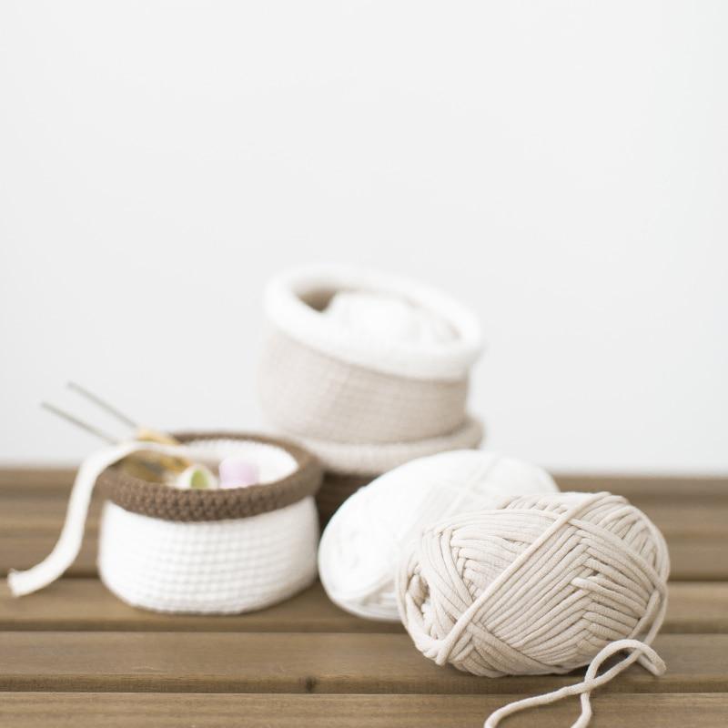 250 g de algodón Crochet hilado bolsas de hilo grueso para tejer ...
