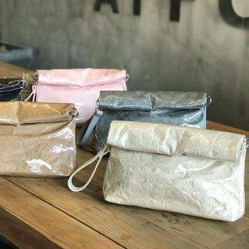 GETSRING Women Bag Clutch Bags Day Clutches Transparent Pvc Plastic Jelly Bag Waterproof Kraft Paper HandBag Lady Handbags New алиэкспресс сумка прозрачная