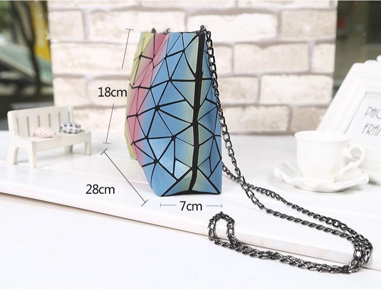 Colore Catena Spalla Reticolo Multicolor Sacchetto Nuove Stile argento Arcobaleno 2018 Diamante Crossbody Borsa Giapponese Singolo Donne Laser Di AqPxwFYg