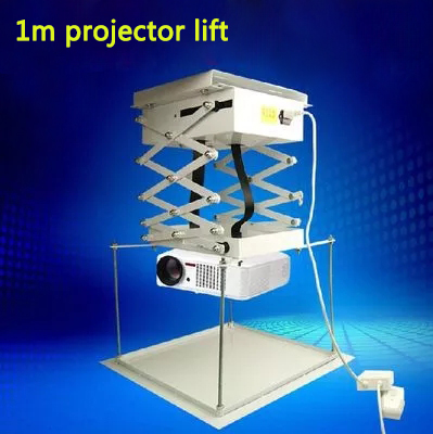 1 м проектор кронштейн моторизованный Электрический подъемник ножницы с дистанционным электрическим потолочным креплением кронштейн для кинотеатра церковного зала школы