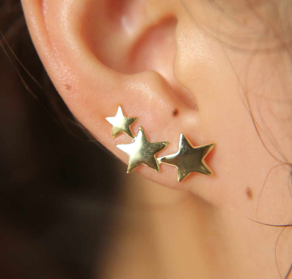 Fashion Long Bar Climber Earrings For Women Gold Silver Color Geometric Ear Crawler Stud Earring Simple Jewelry 925 SILVER