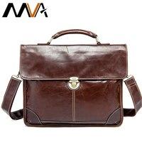 MVA Men S Bag For Documents Leather Briefcase Laptop Handbags Totes Bags Hasp Crossbody Messenger Bags