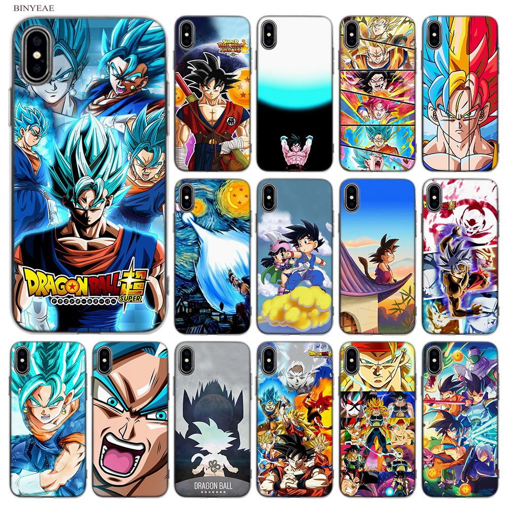 BINYEAE Dragon Ball z goku DragonBall Super Soft Styles Design TPU Silicone Case Cover Coque Shell for Apple iPhone X 10 Ten