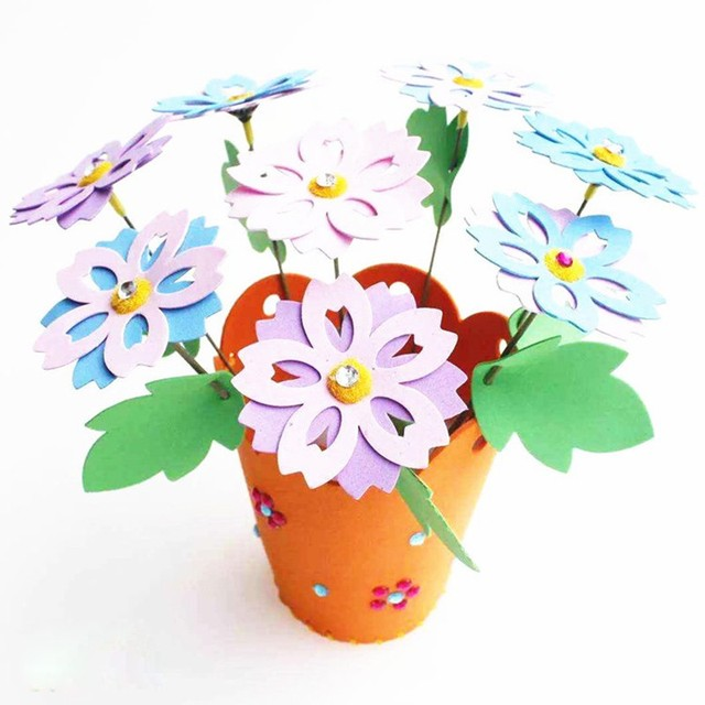 2017 Hot Educational Children DIY Foam Flower Pot Personalized Jigsaw Toy Kids Child Craft Puzzle Toys  sc 1 st  AliExpress & 2017 Hot Educational Children DIY Foam Flower Pot Personalized ...
