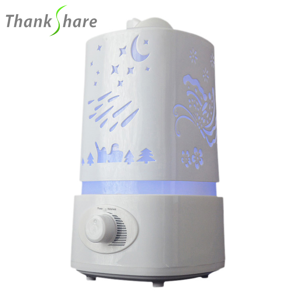 1500ml Ultrasonic Air Humidifier for Home Essential Oil Diffuser Humidificador Mist Maker 7Color LED Aroma Diffusor Aromatherapy(China)