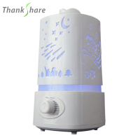 Free Shipping Hot Sale Led Lamp Cool Mist Aroma Diffuser Humidifier For Home Office HI0195