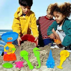 2019 новые летние 7 шт./компл. пляжный песок игрушки играть дети Приморский ковша лопаты грабли комплект играют дети дноуглубительных