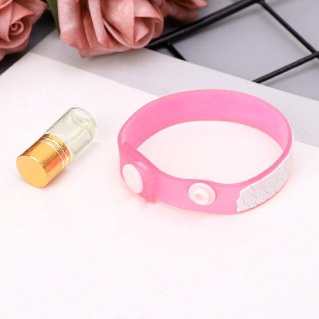 Bracelet Anti Moustiques en silicone aux huiles essentielles 1