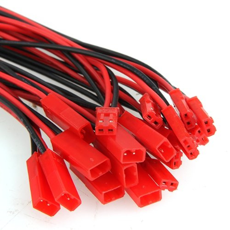10 Pairs  2 Pin JST  100mm Pitch 2.54mm Male and Female Wire Connector Plug Cable   for DIY RC  Battry Model