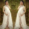 Maternity Photography Props Lace Dresses Pregnancy Gowns For Photo Shoots For Pregnant Women Clothing Photo Portrait Clothes A3