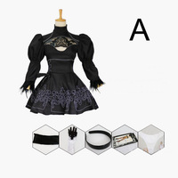 2B Cosplay NieR:Automata YoRHa No.2 Type B Black Dress Cosplay Nier Automatas 2B Costume 6 set