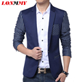 LONMMY Men suit blazers fashion Mens suit jacket blazer for man slim fit Casual High quality Leisure men's clothing