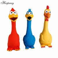 Quietschende Spielzeug Für Hunde Schreien Gummi Huhn Spielzeug Schöne Pet Ente Für Hunde Latex Squeak Squeaker Chew VoiceTraining Neue