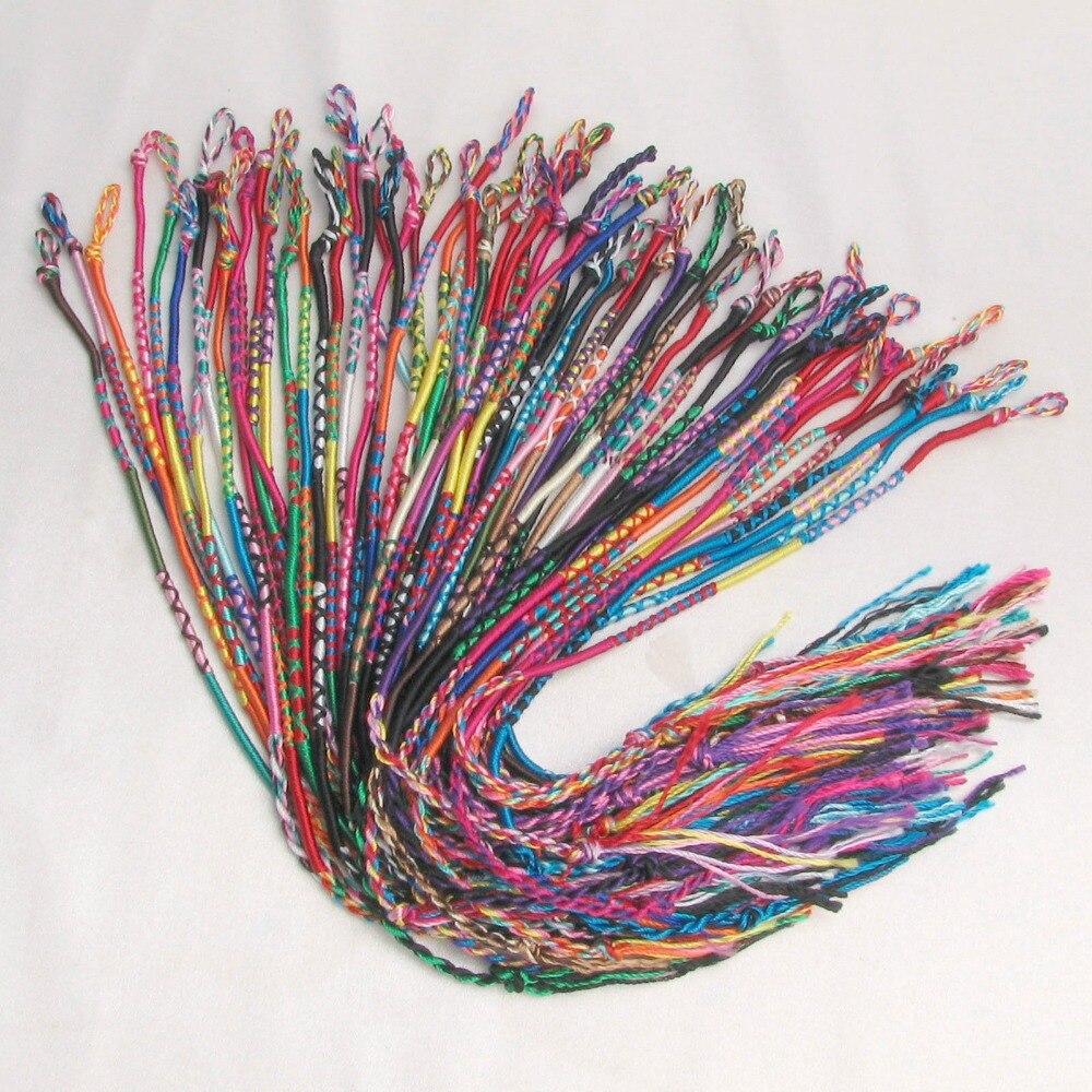 Aliexpress Com Whole Neon Friendship Bracelets Wrap Rainbow Colorful Summer Woven Beach Bohemian Jewelry From