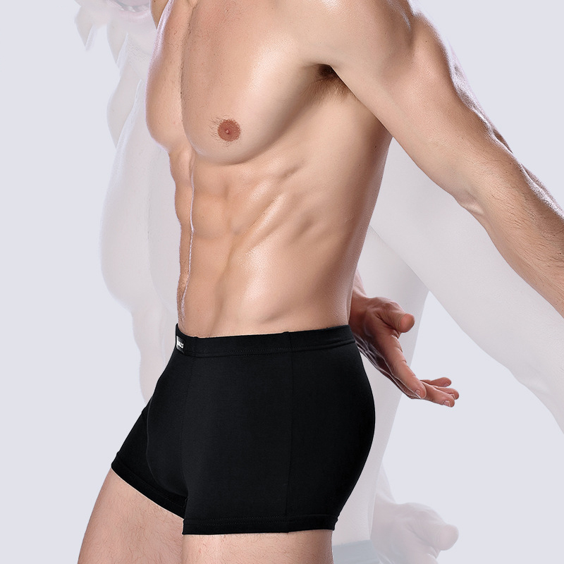 Image 4 - 2019 Brand Clothing Mens Underwear Boxer bamboo fiber Casual Male Men's Short Masculina De Marca Man Underpants Solid Color-in Boxers from Underwear & Sleepwears