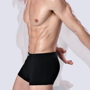 Image 4 - 2020 브랜드 의류 남성 속옷 복서 대나무 섬유 캐주얼 남성 남성 짧은 Masculina 드 마르카 남자 속옷 단색