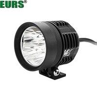 EURS 40W 6500K motorcycle headlights lamp l4X led spotlight accessories 12V motor spot head lights Shop street lamp 7000k auto