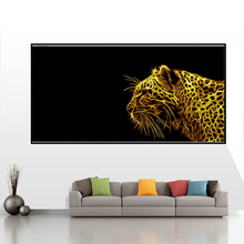 5D DIY Diamond embroidery Golden Leopard animals Pictures Full Resin round rhinestone mosaic kit Painting cross stitch