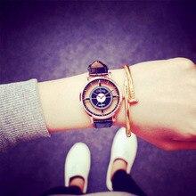 Trend Girls Watch Distinctive Fashionable Tremendous Star Double Hole Design Watches  Girl Informal Quartz Wristwatch Present Ladies Clock