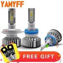 YAMYFF Car Headlight H4 LED H7 LED Bulb H11 H8 H9 H1 H3 9005 9006 Headlamp Auto Lamp Fog Light 12V 6000K 9000LM Perfect Cut Line