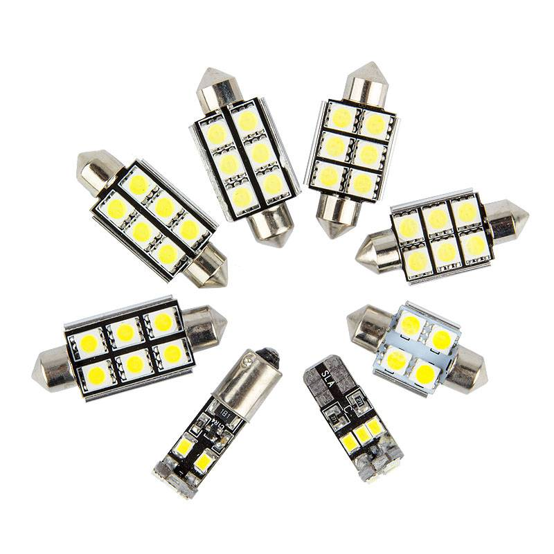 10 pcs Xenon White Interior Car LED bulbs Package Kit for 2001-2005 Honda Civic