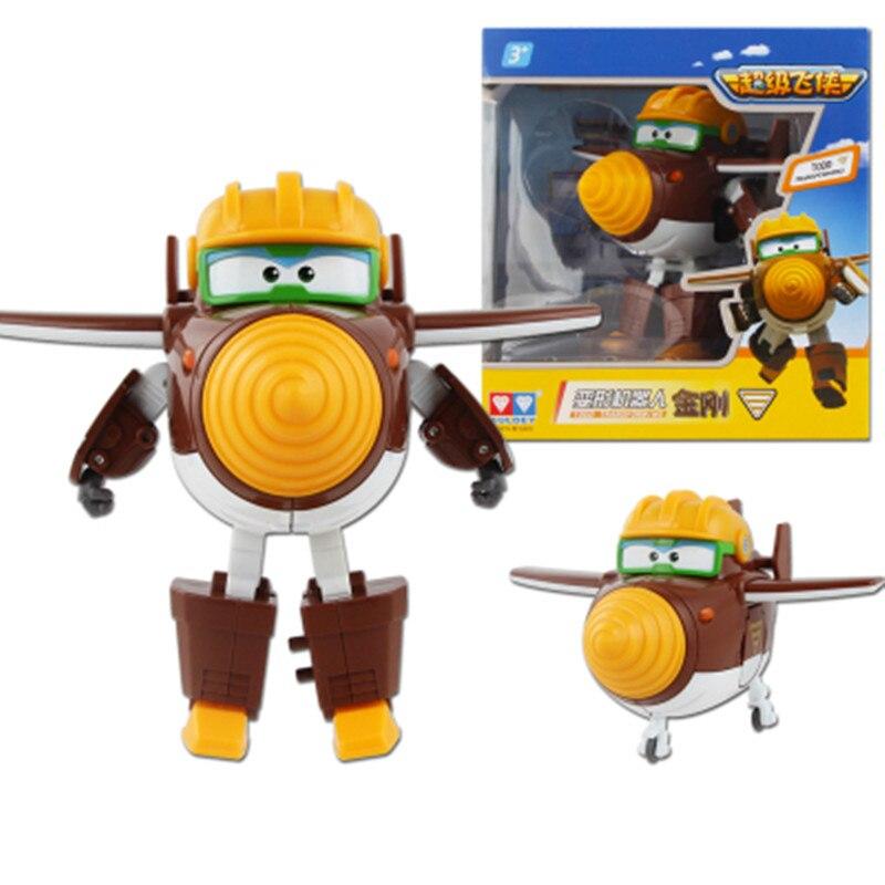 Figuras de Ação e Toy mini avião abs transformação robot Super Wings : Super Wings Toy