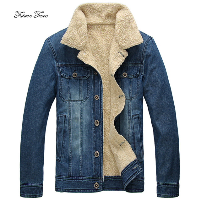 c469d9bc36b Mens Jacket Japan Style Plus Size Slim Cowboy Cotton Clothing Winter  Fashion Solid Plus Velvet Warm Outerwear Male Coat WY125