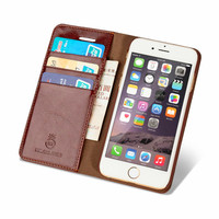 I7 7plus 6 6s Genuine Leather Mobile Case Flip Cover Slot Set Luxury Phone Cases For