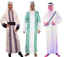 Halloween Ball Costume Adult Man Arabia Dress Saudi Arabia Dubai Robe Dress Costumes Middle East Shepherd anniyo 65cm necklace and earrings for women gold colo arab middle east wedding jewelry qatar dubai saudi arabia gifts 088706