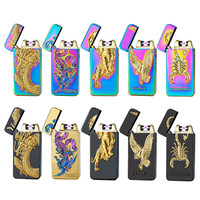 Pulsed Arc Lighter USB Rechargeable Lighter Creative Design Electric Double Arc Plasma Cigarette Lighter Weed Tobacco