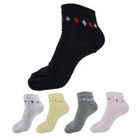 6Pair Fashion Colorful Women Socks Female Casual Cute Five Finger Toe Socks Cotton Spring/Summer Meias Short Ankle Socks