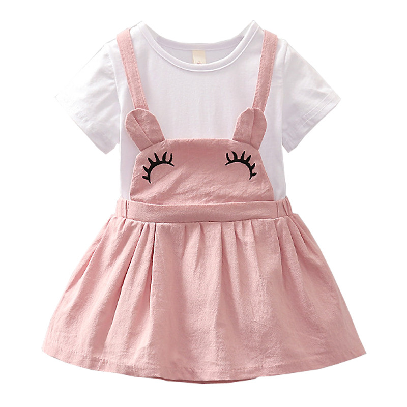 Baby Dresses Summer Baby Girls Mini A-Line Cute Stitching Dress Toddler Princess Birthday Party Dress Cotton Children Clothing