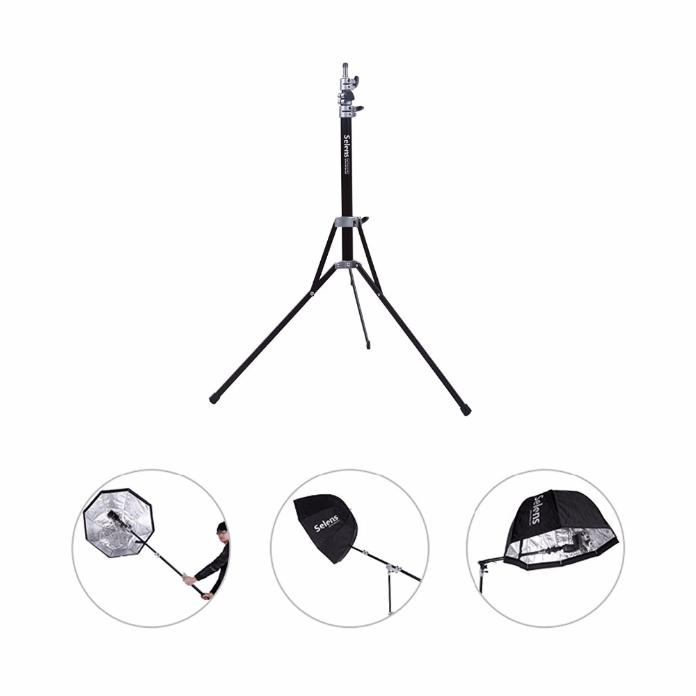 Selens Air-Cushion Heavy Duty Light Stand 220cm 7.2ft SGT-2200A with carrying Bag support system lighting holder Fotografie