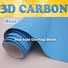 Thickness: 0.18mm Baby Blue 3D Carbon Fiber Vinyl Blue Air Bubble Free For Auto Laptop Phone Size: 1.52*30m/Roll