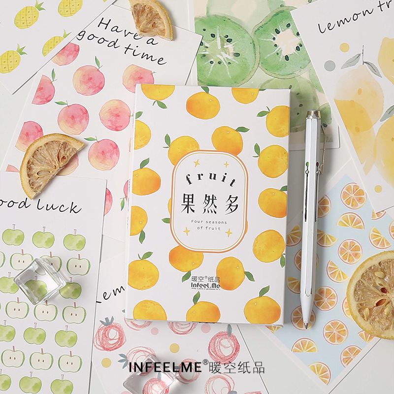 30 Sheets/Set Novelty Four Seasons Of Fruit Paper Postcard Greeting Card Business Gift Card Message Card